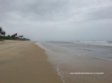 The clean Benaulim beach