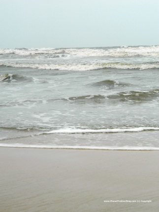 The undercurrents during monsoon are very strong and hence venturing into sea is barred