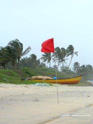 Red flag during Monsoon - rough sea ahead