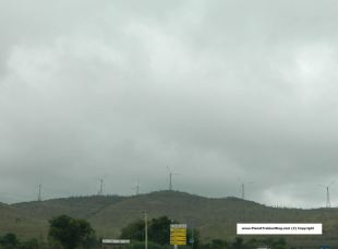 Windmills before Chitradurga