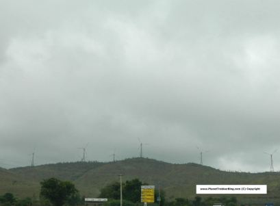 Windmills before Chitradurga