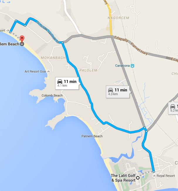 Lalit Ashok to Palolem route.JPG