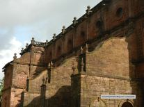 The side walls of Basilica devoid of the plasters