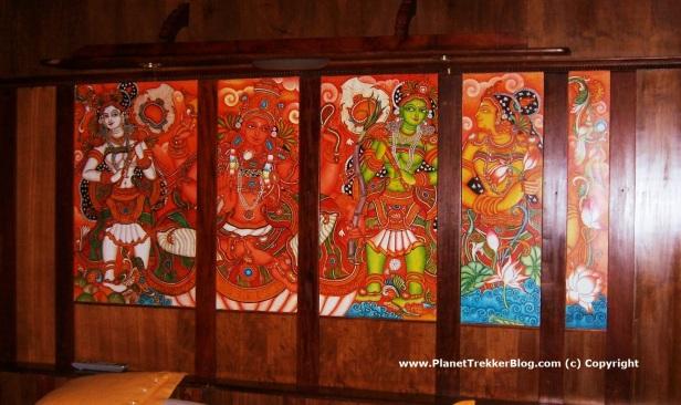 Art work inside the houseboat