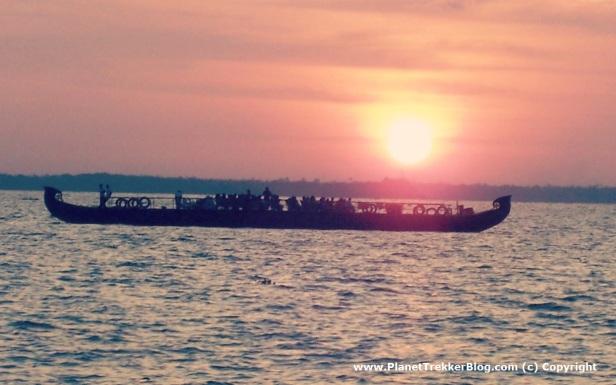 Sunset over the lake.JPG