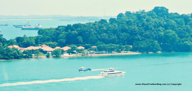 Cable car drive to Sentosa 5