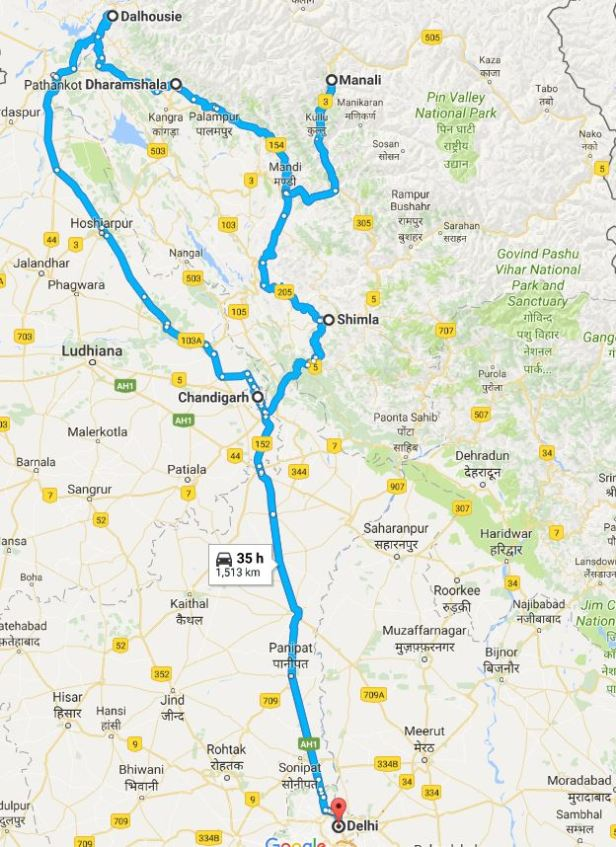 10 day Himachal Trip
