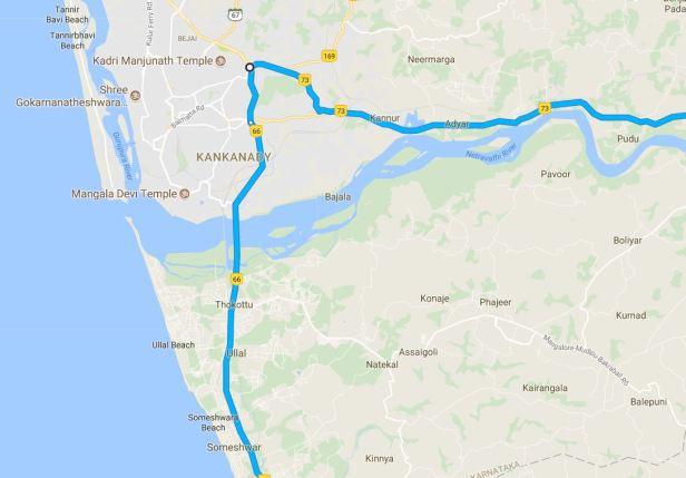 Bangalore to Bekal via Mangalore2