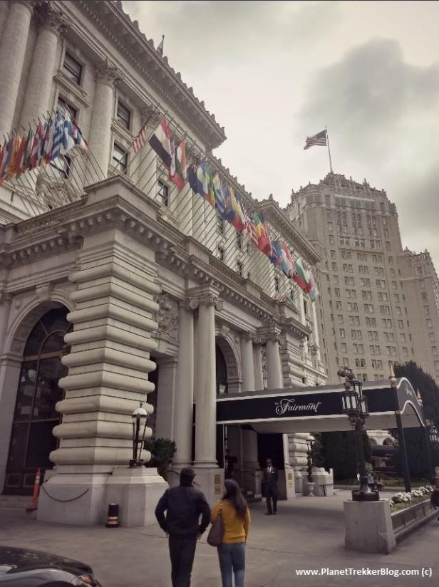 The facade of the Fairmont Hotel